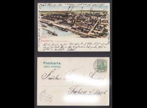 Ansichtskarte Gruss aus Wiesdorf Rhein Farben Fabriken v. Friedrich Bayer & Co.