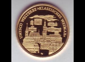 Goldmünze 100 Euro 2006 UNESCO Weltkulturerbe Klassisches Weimar