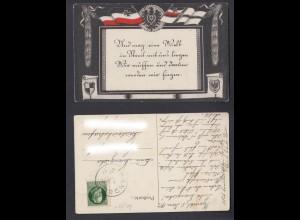 Ansichtskarte Flacken Adler mit Spruch Kandel 1917