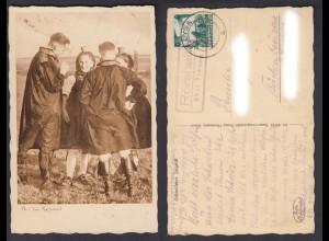 Ansichtskarte Schwälmer Jugend auf zum gestempelt Rörshain über Treysa