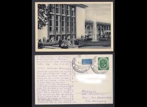 Ansichtskarte Bad Homberg v. d. Höhe Theater im neuen Kurhaus mit Wasserspiel