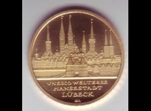 Goldmünze 100 Euro 2007 UNESCO Weltkulturerbe Hansestadt Lübeck
