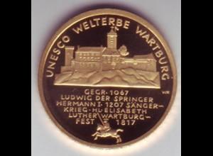 Goldmünze 100 Euro 2011 UNESCO Weltkulturerbe Wartburg