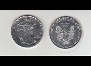Silbermünze 1 OZ USA Liberty 1 Dollar 1994 angelaufen /1