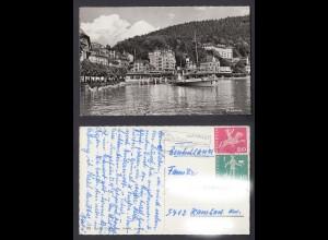 Ansichtskarte Brunnen am Vierwaldstättersee Schweiz mit Grand Hotel + Eden Hotel