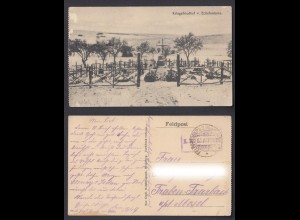 Feldpostkarte 1. WK Kriegsfriedhof v. Eclisfontaine Frankreich 1916