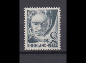 Französische Zone Rheinland Pfalz 1 Plf. III Persöhnlichkeiten 2 Pf postfrisch