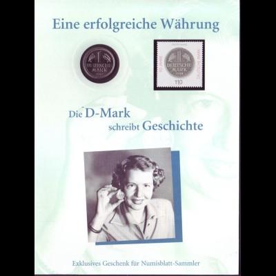Numisblatt Eine erfolgreiche Währung 1 DM 1992 D + Briefmarke 1998