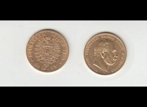 Goldmünze Wilhelm I. König von Preussen 10 Mark 1880 A