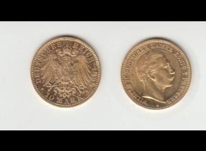 Goldmünze Wilhelm II. König von Preussen 10 Mark 1898 A