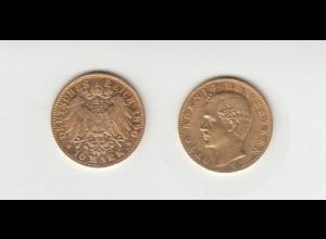 Goldmünze Otto König von Bayern 10 Mark 1890 D