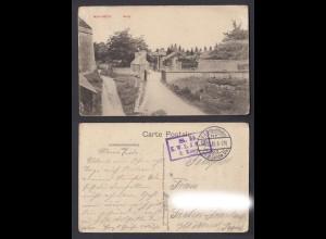 Feldpostkarte 1. WK Montmedy Frankreich mit Burg 1915