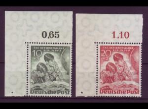Berlin 80-81 Eckrand links oben Tag der Briefmarke 10+ 3 + 20+ 2 Pf postfrisch