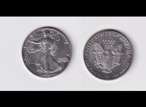 Silbermünze 1 OZ USA Liberty 1 Dollar 1987 angelaufen