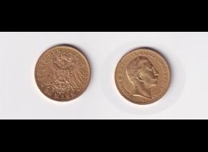 Goldmünze Wilhelm II. König von Preussen 20 Mark 1897 A