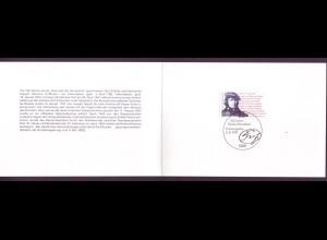 Bund 1555 Ministerkarte 150 Jahre Deutschlandlied 1991 ESST