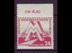 DDR 282 mit Oberrand Leipziger Frühjahrsmesse 24 Pf postfrisch