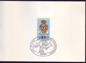 Bund 866 Ministerkarte Tag der Briefmarke 1975 ESST