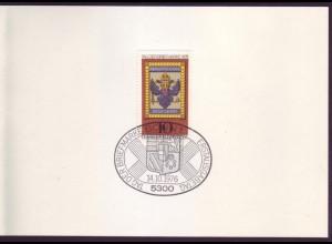 Bund 903 Ministerkarte Tag der Briefmarke 1976 ESST