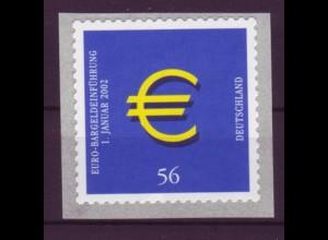 Bund 2236 SELBSTKLEBEND von der Rolle Einführung der Euro-Münzen 56 Cent **
