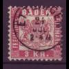 Baden Mi.Nr. 24 Wappen 3 Kreuzer gestempelt