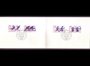 Bund 1009-1008 + Berlin 596-597 Ministerkarte für den Sport 1979 ESST