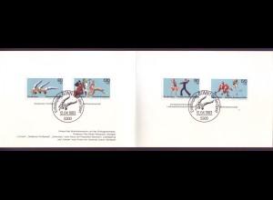Bund 1172-1173 + Berlin 698-699 Ministerkarte für den Sport 1983 ESST