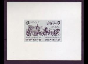 DDR Schwarzdruck 2965 SOZPHILEX `85