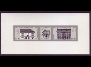 DDR Schwarzdruck 3118-3119 S Tag der Philatelisten 1987