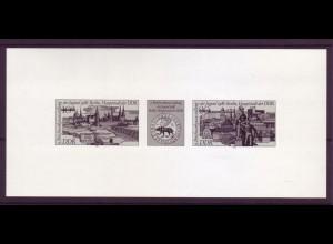 DDR Schwarzdruck 3030-3031 S Briefmarkenausstellung der Jugend Berlin 1986