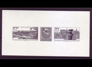DDR Schwarzdruck 2722-2723 Briefmarkenausstellung der Jugend Schwerin 1982
