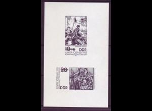DDR Schwarzdruck 2812-2813 Junior-SOZPHILEX 1983
