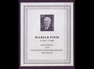 DDR Block 16 Tod von Präsident Wilhelm Pieck 20 Pf postfrisch
