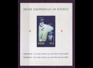 DDR Block 17 Erster Gruppenflug Wostok 3 und 4 70 Pf postfrisch