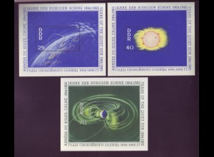 DDR Block 20-22 Internationale Jahre der ruhigen Sonne 25, 40, 75 Pf postfrisch