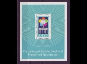 DDR Block 38 Weltfestspiele der Jugend und Studenten in Berlin 50 Pf postfrisch