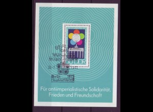 DDR Block 38 Weltfestspiele der Jugend und Studenten in Berlin 50 Pf mit ESST