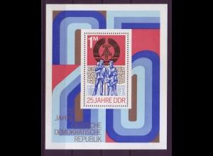 DDR Block 41 25 Jahre DDR 1 M postfrisch