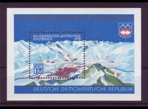 DDR Block 43 XII. Olympische Winterspiele Innsbruck 1976 1 M postfrisch