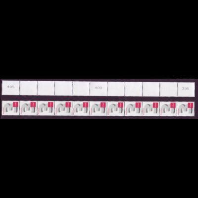 Bund 2964 3-Cent 11er Streifen breite Nr. postfrisch