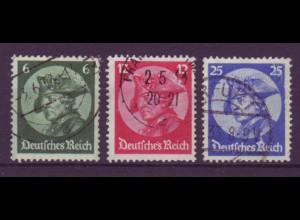 Deutsches Reich 479-481 Friedrich der Große 6 Pf, 12 Pf, 25 Pf gestempelt