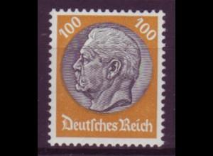 Deutsches Reich 495 Paul von Hindenburg 100 Pf postfrisch