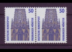Bund 1340 A waagerechtes Paar SWK 50 Pf postfrisch