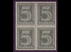 Dt. Reich Dienst D 23 4er Block 5 Pf postfrisch