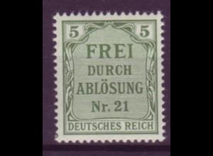 Dt. Reich Dienst D 3 Einzelmarke 5 Pf postfrisch