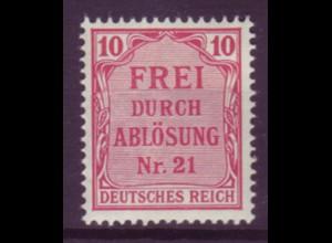 Dt. Reich Dienst D 4 Einzelmarke 10 Pf postfrisch