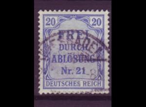 Dt. Reich Dienst D 5 Einzelmarke 20 Pf gestempelt /1