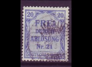 Dt. Reich Dienst D 5 Einzelmarke 20 Pf gestempelt /2