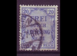 Dt. Reich Dienst D 5 Einzelmarke 20 Pf gestempelt /3