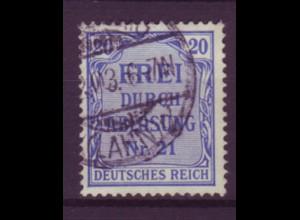 Dt. Reich Dienst D 5 Einzelmarke 20 Pf gestempelt /4